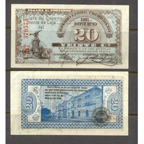 Si-mex-9 Billete Del Estado De Mexico De 20 Centavos