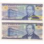 Par De Billetes 50 Pesos (variedad) Benito Juarez