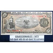 Billete De 20 Pesos Del Gobierno Provicional De Mexico 1914