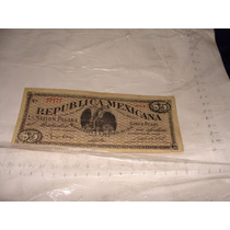 Billete De 5 Pesos Republica Mexicana , Año 1914