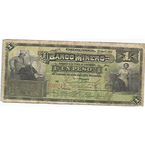 Papel Moneda 1 Peso Banco Minero 1914