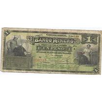 Papel Moneda 1 Peso Banco Minero 1914