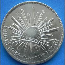 Moneda De 8 Reales Plata Zacatecas 1834 Om Aguila Tipo 2