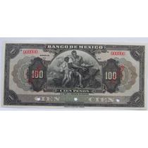 Billete Banco De Mexico 100 Pesos Tipo Ancho 1er Emision