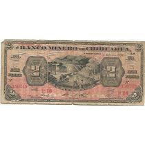Banco Minero Chihuahua 2 Pesos Revolucion