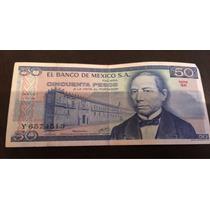 Billete Antiguo De 50 Pesos Juárez 1979