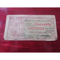 Billete 50 Centavos Camara De Comercio De Oaxaca 1915