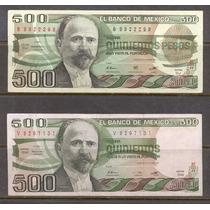 Par De Billetes De 500 Pesos (variedades) Francisco I Madero