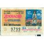 * Billete Loteria Zodiaco Yalalteca Ixtlan 30 Noviembre 1986