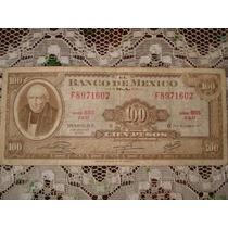 Billetes Antiguos De 100 Pesos De 1972 (hidalgo)