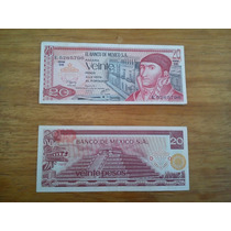 Lote De 6 Billetes Antiguos 20 Pesos Morelos