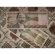 Billete Antiguo De 500 Pesos De 1984 De Madero