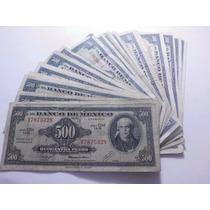 Un Billete 500 Pesos Morelos Condicion Usado