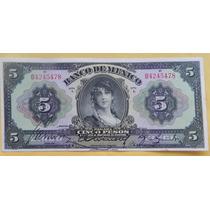 Billete $5 Pesos Banco De Mexico Tipo Ancho Serie I Excelent