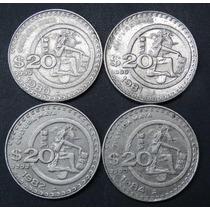 Ganga Serie Completa Moneda De 20 Pesos Cultura Maya