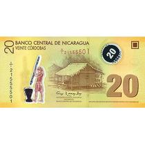 Grr-billete De Nicaragua 20 Córdobas 2007 (2012) - Plástico
