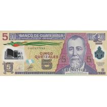 Grr-billete De Guatemala 5 Quetzáles 2010 - Plástico!!