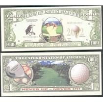 Billete Golf 4 Dolares (2002)