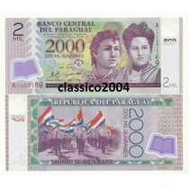 Billete De Plastico Paraguay 2,000 Guaranies (2008)