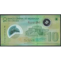 Grr-billete De Nicaragua 10 Córdobas 2007 (2012) - Plástico
