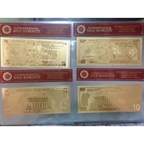 Super Ganga, Billetes De Oro 24 K De Usa, Con Certificado