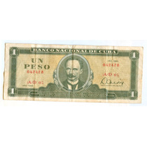 Billete De Cuba 1 Pesos Cubano