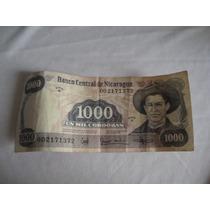 Billete Nicaragua 1000 Córdobas 1985