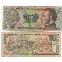 Billete Honduras 5 Lempiras