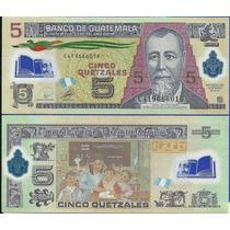 De Plastico!! Guatemala 5 Quetzales (2010) Polimero