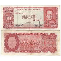 Bill. Bolivia 100 Pesos (1962) Bolivar / Acta Independencia