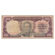 Billete Uruguay 1000 Pesos (1967) Artigas