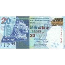 Grr-billete Hong Kong 20 Dollars 2010 -hsbc - Festival Otoño