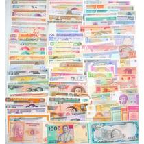 Colección 100 Billetes Diferentes De 100 Países Diferentes