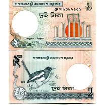 Billete Bangladesh 2 Taka (2010) Pajaro