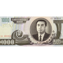 Grr-billete De Corea Del Norte 1000 Won 1992 - Kim Il Sung
