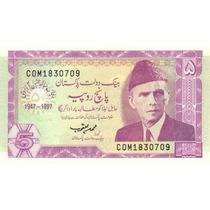 Grr-billete De Paquistán 5 Rupees 1997 - Conmemorativo