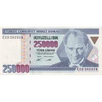 Grr-billete De Turquía 250,000 Liras Turcas 1970 - 1992