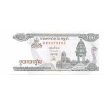 Billete Camboya 100 Riels (1995) Monumento A La Victoria