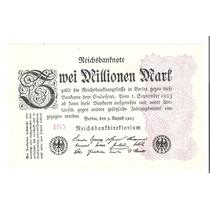Billete Alemania 2 Millones De Mark 1923 Rep Weimar Nuevo Un