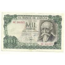 Billete España 1,000 Pesetas (1971) Jose Echegaray