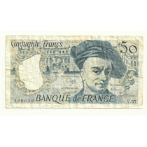 Billete Francia 50 Francos (1989) Maurice Quentin Tour Lqe