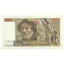 Billete Francia 100 Francos (1981) Delacroix Lqe