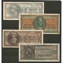 Colección De 4 Billetes De Personajes Mitológicos De Grecia