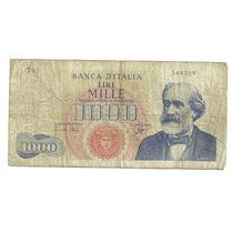 Billete Italia 1,000 Liras (1962) Verdi Lqe