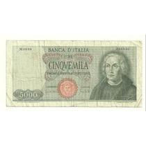 Billete Cristobal Colon 5,000 Liras (1964) Italia Lqe