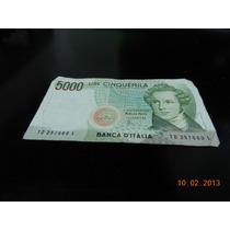 Billete De Italia De 5000 Liras Pre Euro