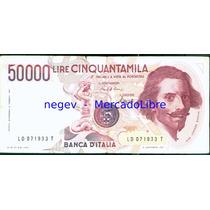 Billete Italia 50000 Liras P.#113 1984 Bernini/fuente Triton