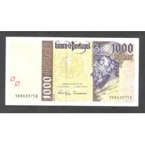 Billete De Portugal De 1,000 Escudos De 1998 Nuevo Unc