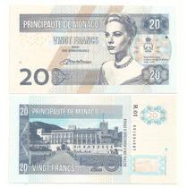 Billete Fantasia Monaco 20 Francos (2014) Grace Kelly
