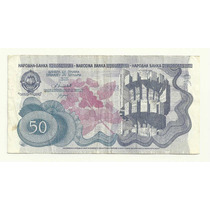 Billete Yugoslavia 50 Dinara (1990) Monumentos
